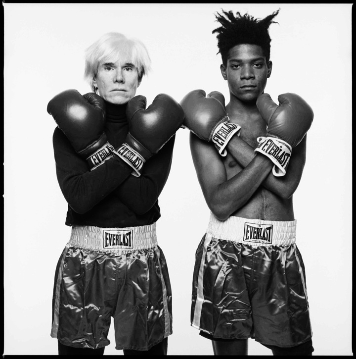 <h4><em>Andy Warhol and Jean-Michel Basquiat, <br /> 							New York City</em></h4>                             1985                              <br /><br />                             Gelatin Silver Print                             </br>                             20 x 20 inches                             <br /><br />