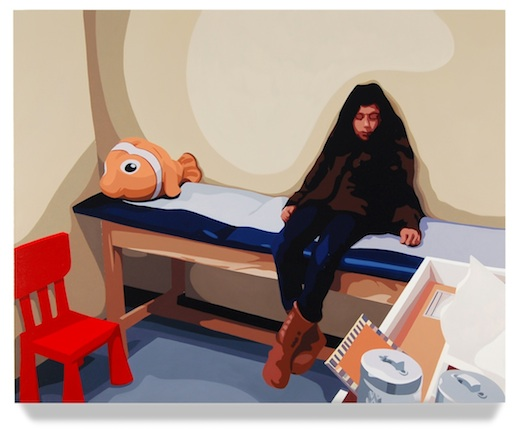 <h4><em>Examination Room</em></h4>                             2012                              <br /><br />                             Oil on canvas                             </br>                             32 x 40 inches                              <br /><br />