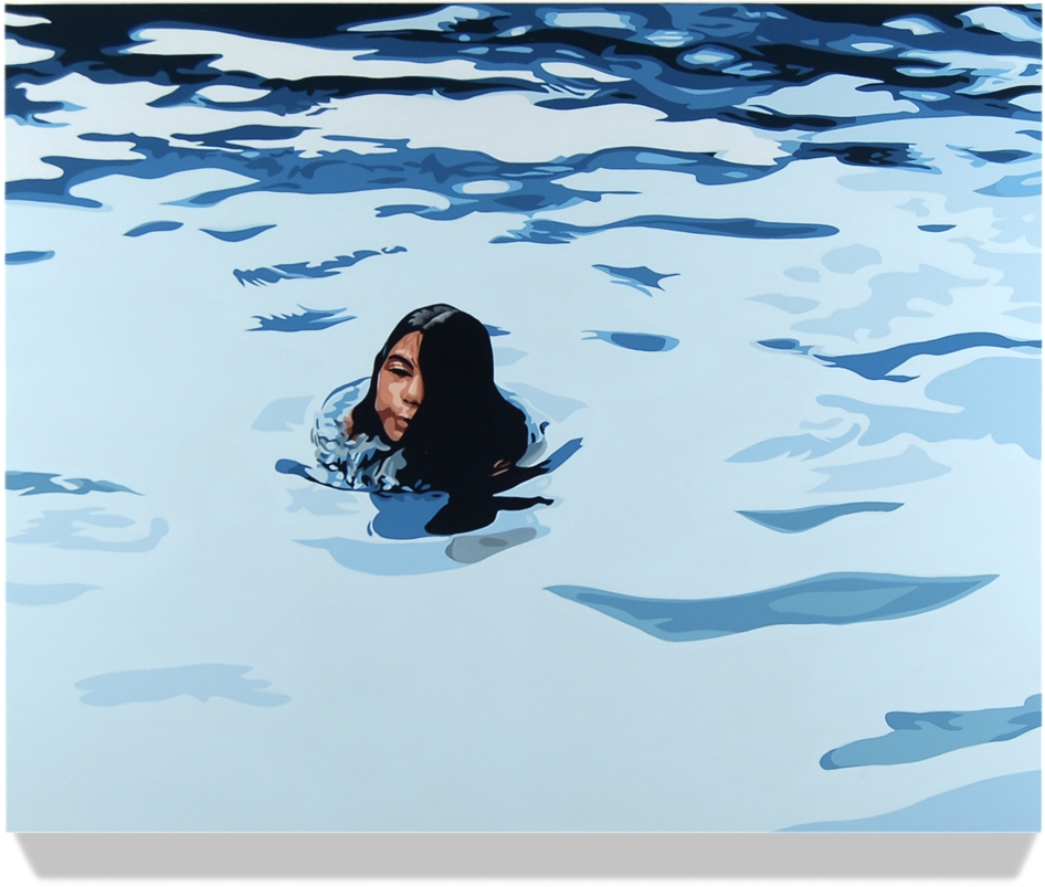 <h4><em>Girl in Water</em></h4>                             2010                             <br /><br />                             Oil on linen over panel                             </br>                             24 x 30 inches                             <br /><br />