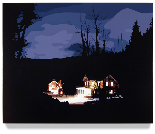 <h4><em>House at Night II</em></h4>                             2012                              <br /><br />                             Oil on canvas                             </br>                             32 x 40 inches                              <br /><br />