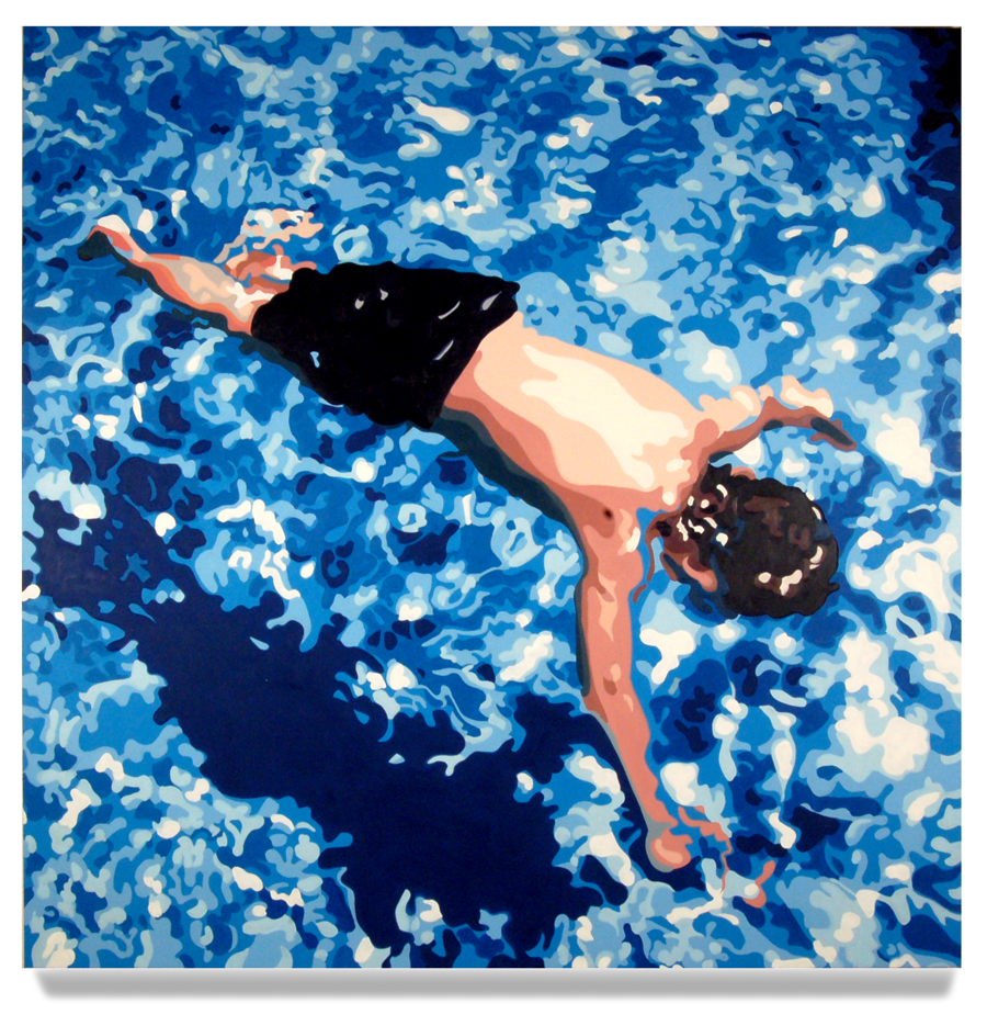 <h4><em>Floating Child</em></h4>                             2008                              <br /><br />                             Oil on canvas                             </br>                             78 x 78 inches                              <br /><br />